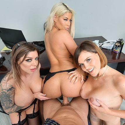 Office Foursome With Bridgette B., Karma Rx and Krissy Lynn