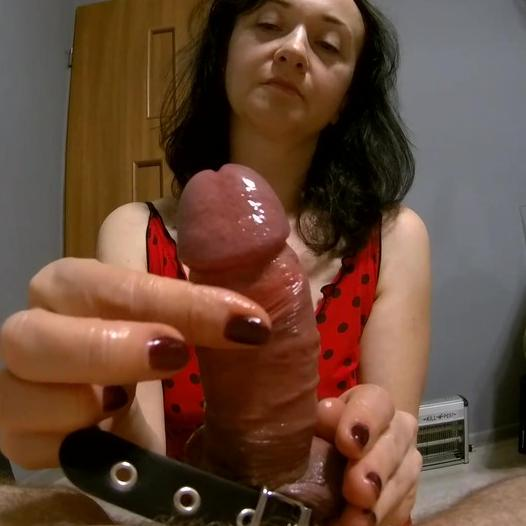 Maya drains hubby's balls so good