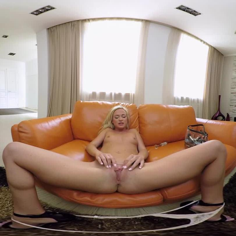 Sweet Blonde Playing With Her Dildo
