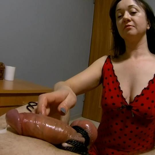 Pervy Maya Jerks the Guy's Tied Cock